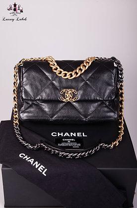 Chanel Large Black Chanel 19 Flap
