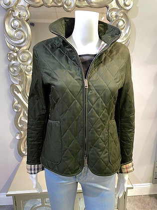 Burberry Quilted Olive green jacket size  (Small)