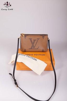 Louis Vuitton double zip pochette autres toiles monogram
