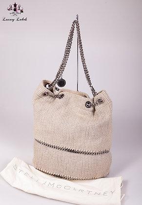Stella McCartney Woven Falabella Bucket Bag