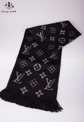 Louis Vuitton Black High Shine Logomania Scarf (brand new)