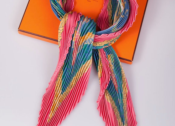 Hermes Pleated Scarf