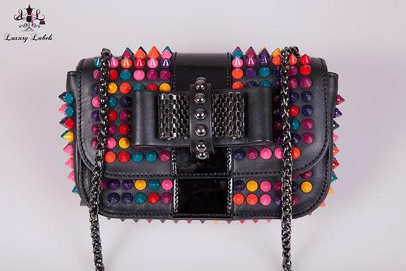 Christian Louboutin Sweet Charity Crossbody Bag Spiked Patent Mini