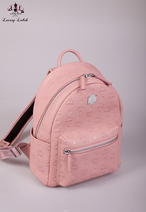 MCM Pink Ottomar Leather Backpack