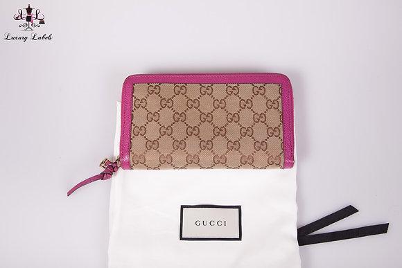 Gucci Large GG Guccissima Zip Around Wallet