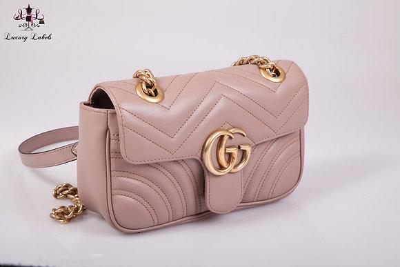 Gucci GG Marmont Dusty Pink mini shoulder/crossbody bag