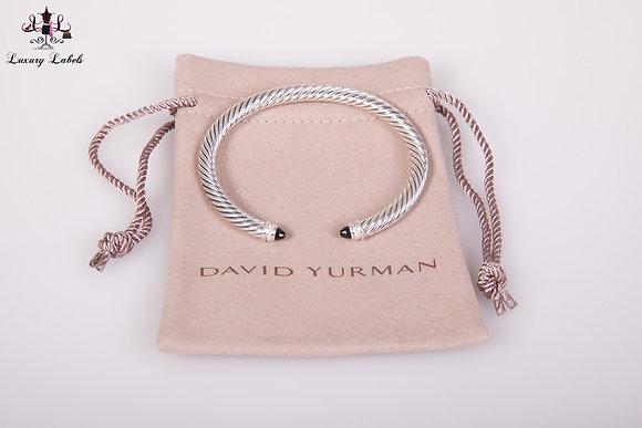 David Yurman 5mm Classic Bracelet Onyx w/diamonds Sz. M (Brand New)