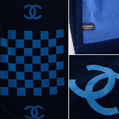Chanel CC check-print beach towel (Brand New)