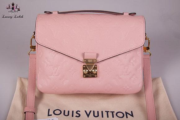 Louis Vuitton Pochette Metis Empreinte Rose Poudre Leather Crossbody