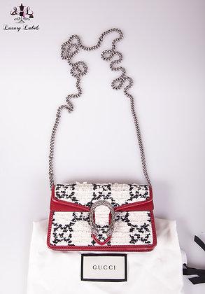 Gucci Super Mini GG Tweed Dionysus Bag
