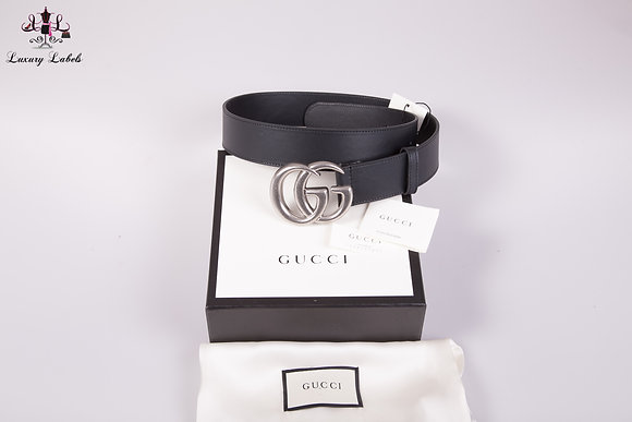NEW Gucci Leather Double G belt sz 85 (S)