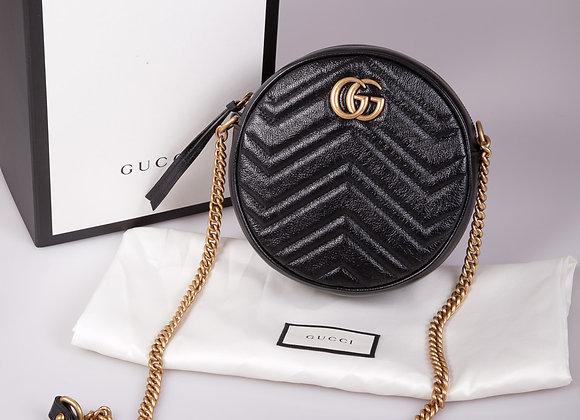 Gucci GG Marmont mini round Crossbody