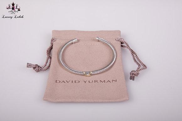 David Yurman X Bracelet with Gold size M (Brand New)