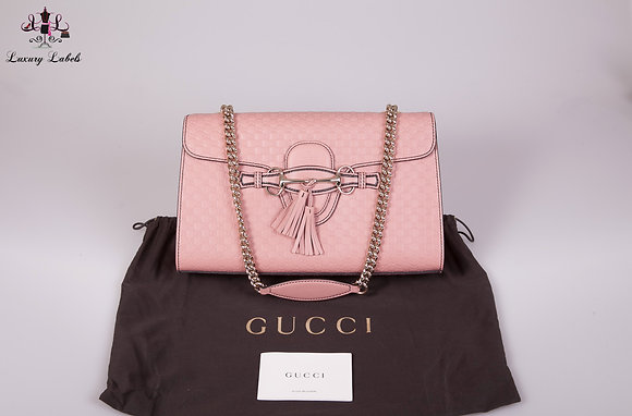 Gucci Microguccissima Medium Emily Chain Shoulder Bag