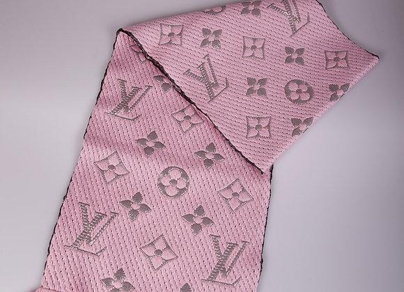 Louis Vuitton Pink High Shine Logomania Scarf (brand new)