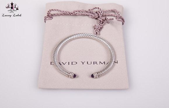 David Yurman 5mm Classic Bracelet Amethyst w/diamonds Sz. M