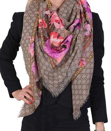 Gucci shawl w/pink flowers (brand new w/tags)