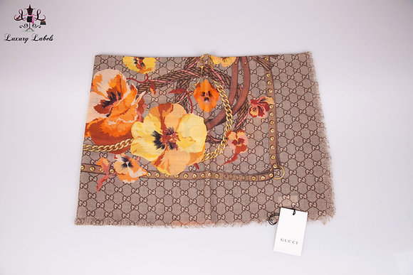 Gucci shawl w/yellow flowers (brand new w/tags)