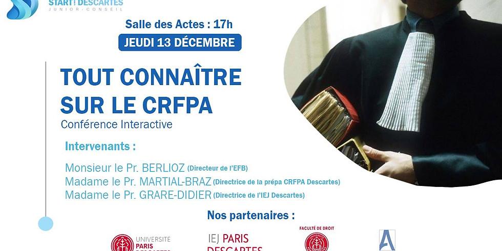 """Conférence """"Tout connaitre sur le CRFPA"""""""