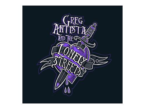 Greg Antista & The Lonely Streets Original Logo Sticker
