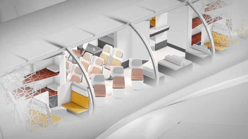 Transpose aircraft cabin render