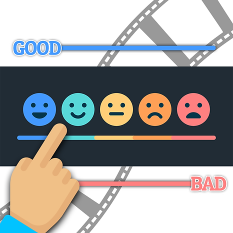 good and bad feedback tab with smiley faces