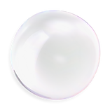 3d bubble transparent