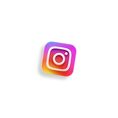 3d floating instagram icon