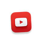 3d floating youtube icon