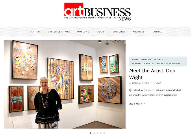 Art Business News Article on Deb Wight