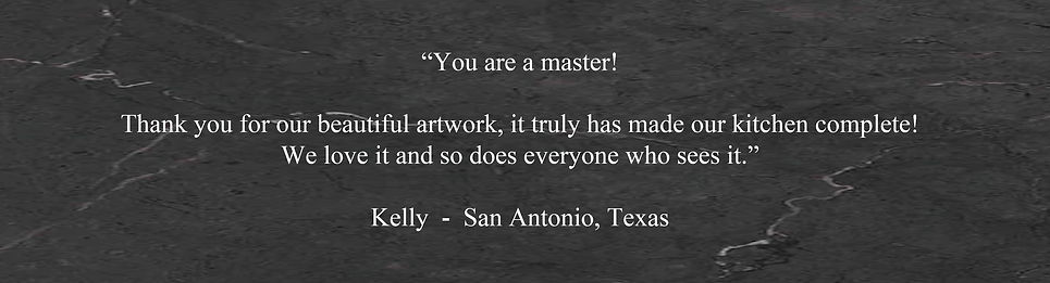 Glass and copper fine art customer tells how happy she is with Deb's glass art. Glass art testimonial.
