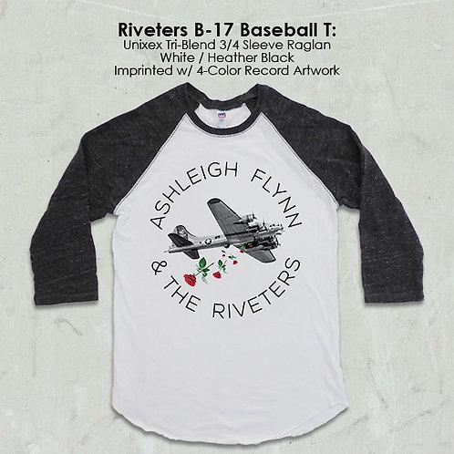 Ashleigh Flynn & The Riveters B-17 Baseball T
