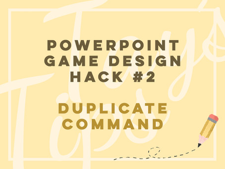 Powerpoint Game Design Hack #2