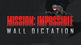 Mission Impossible Wall Dictation ESL EFL Foreign Language game PowerPoint