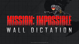 Mission Impossible Wall Dictation ESL EFL foreign language powerpoint game