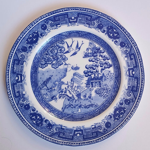 Weeping Willow side plate: open edition