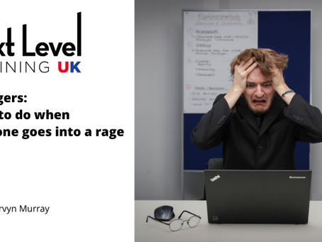 Managers: What to do when someone goes into a rage