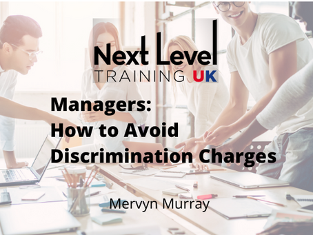 Managers: How to Avoid a Discrimination Charge.