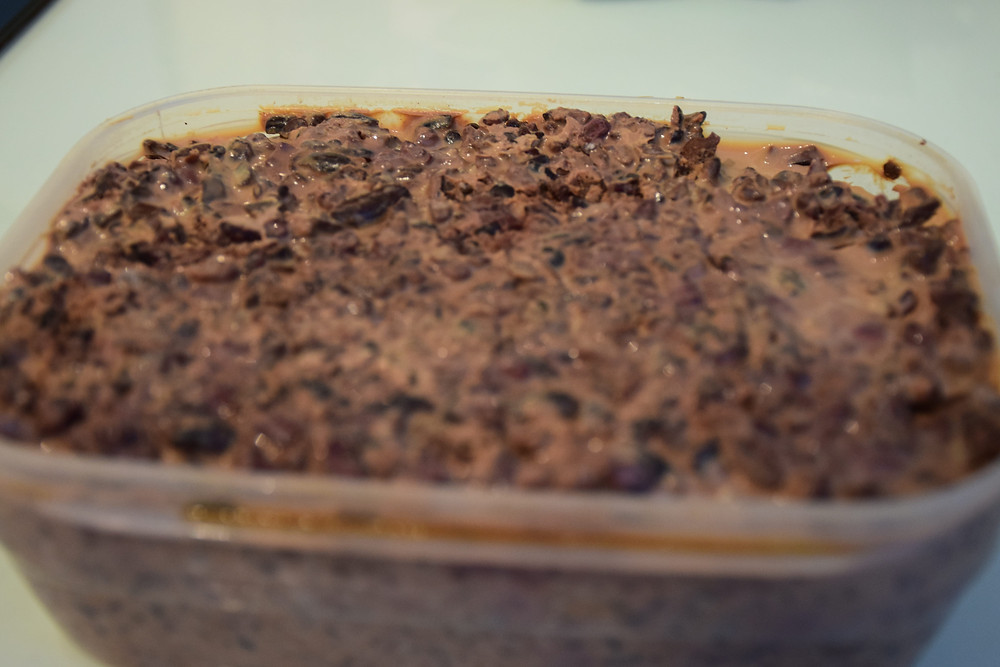 Cacao nibs soaked with Irish cream | Linden Chocolate Lab