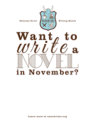 National Novel Writing Month - a great distraction when querying