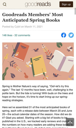 """""""Winner of this spring's informal Coolest Book Title Award..."""""""