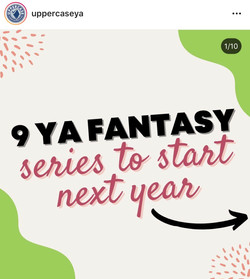 """""""Looking for a new fantasy series to sink into?? Well you still have to wait a bit 😬 BUT check out"""