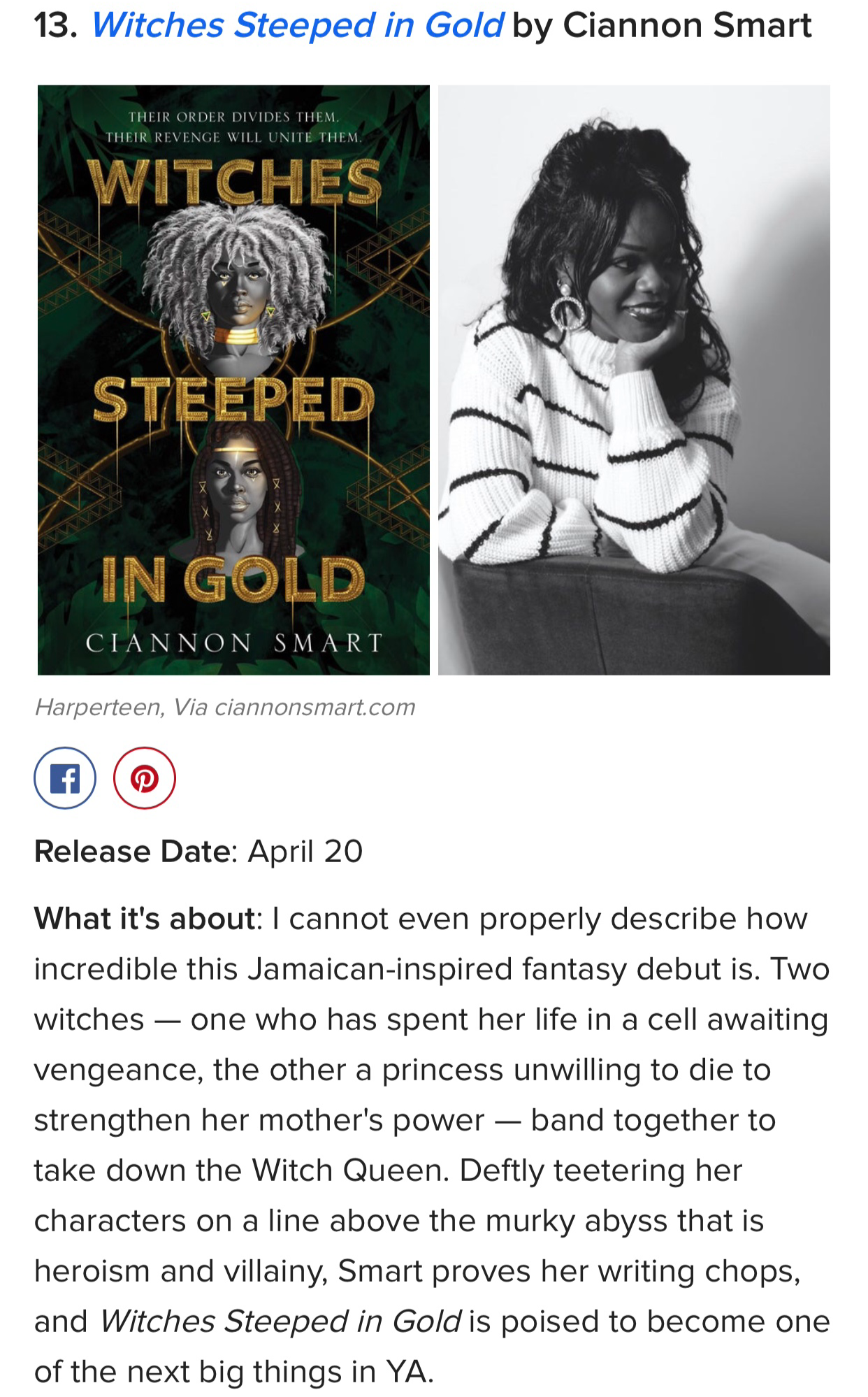 """I cannot even properly describe how incredible this Jamaican-inspired fantasy debut is."""