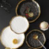 Ceramic DinnerPlate Gold-Inlay
