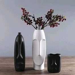Minimalism Abstract Head Shape Ceramic Vase