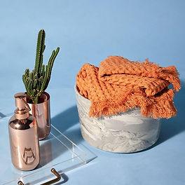 Tangerine Waffle Hand Towel