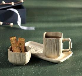 Handcrafted Coffee Mug - Bowl & Platter