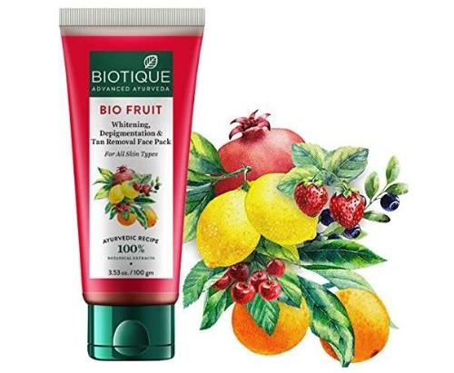Biotique Bio -  Fruit Whitening and Depigmentation Face Pack
