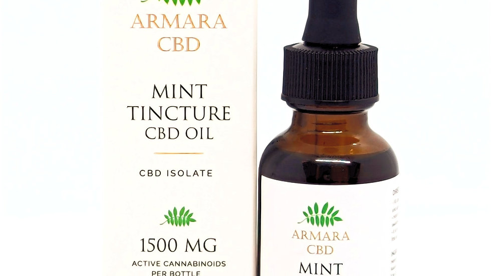 1500mg CBD Isolate Mint Tincture