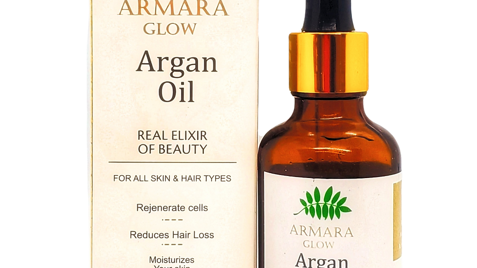 "100% Organic Argan Oil -""Real Elixir of Beauty"""